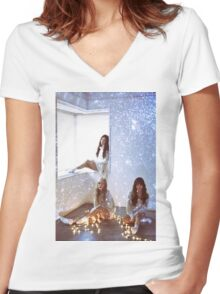 TAETISEO - DEAR SANTA Women's Fitted V-Neck T-Shirt