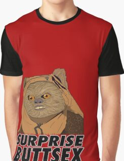Ewok - Surprise Buttsex Graphic T-Shirt