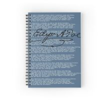 Nevermore - Blue and White Spiral Notebook