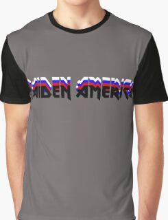 MAIDEN AMERICA - Iron Maiden Logo Parody Graphic T-Shirt