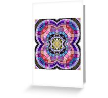 4-Sided Abstract Circles and Arches Pattern Greeting Card
