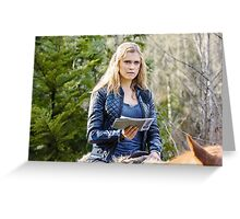 The 100 - Clarke Griffin Horse Riding Greeting Card