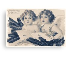 Old Fashioned Christmas Greetings Canvas Print