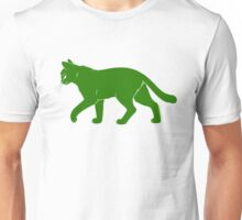 Green Cat Meow Unisex T-Shirt