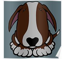 Dobby Ears Bull Terrier Brown  Poster