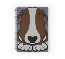 Dobby Ears Bull Terrier Brown  Spiral Notebook