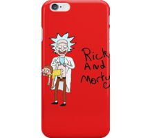 Funny Rick Morty iPhone Case/Skin