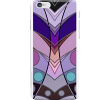 Curved Chevron and Circles Mirrored Pattern iPhone Case/Skin