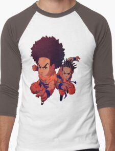 The Boondocks|Dragon Ball Z Men's Baseball ¾ T-Shirt
