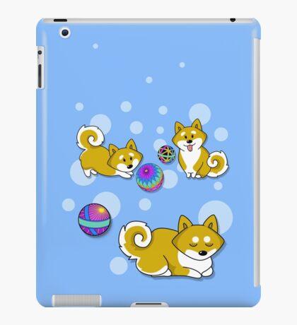 Playful Shiba Inu and Temari iPad Case/Skin