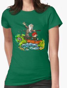Gandalf and Bilbo Womens Fitted T-Shirt
