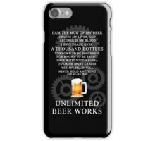 Unlimited Beer Works iPhone Case/Skin