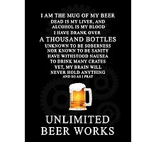 Unlimited Beer Works Photographic Print