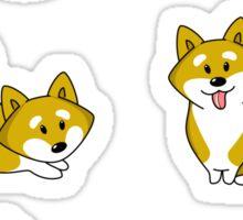 Playful Shiba Inu and Temari Sticker