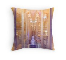 Purple Copper Abstract Reflection Repeating Pattern Throw Pillow
