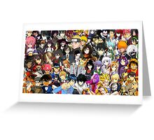 Anime Mashup Of Worlds Greeting Card