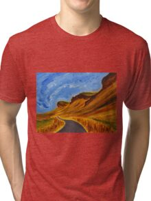 Road in Iceland Tri-blend T-Shirt