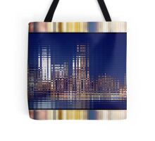 Bright Lights of the City NYC Rippling Abstract Tote Bag