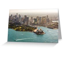 Sydney from the Sky Greeting Card