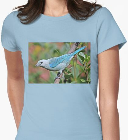 Blue Tanager Womens Fitted T-Shirt