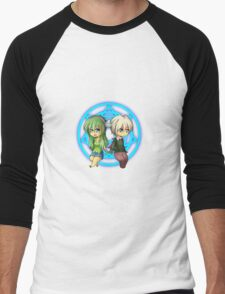 Damian + Nora Chibi Men's Baseball ¾ T-Shirt