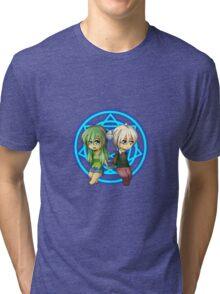 Damian + Nora Chibi Tri-blend T-Shirt
