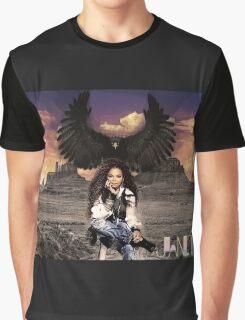 Janet, Desert Black Eagle Graphic T-Shirt