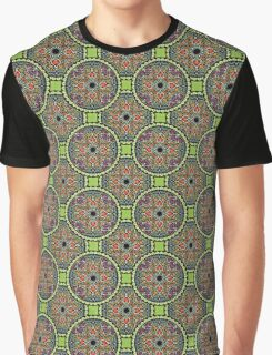 Medallion in green floral Graphic T-Shirt