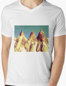 Three Hills Mens V-Neck T-Shirt