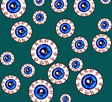 Eyeballs All Over! Peeper Print by madradmitchell