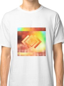 Abstract Geometric Gradient Colors Orange Blue Green Yellow Classic T-Shirt