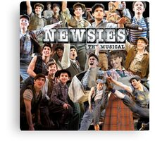 Newsies on Broadway photo collage Canvas Print