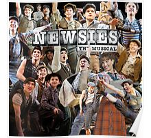 Newsies on Broadway photo collage Poster