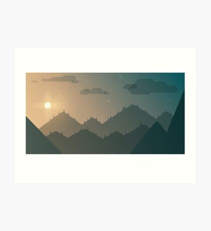 Mountains on the Rise Art Print