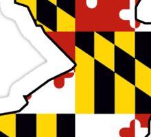 Maryland flag New Jersey outline Sticker