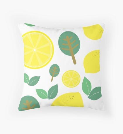 Sweet Lemon Tree Throw Pillow