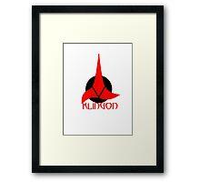 Klingon shirt Framed Print