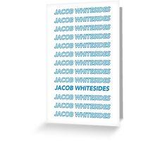 Jacob Whitesides Blue Greeting Card