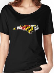 Maryland flag North Carolina outline Women's Relaxed Fit T-Shirt