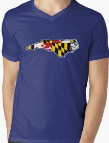 Maryland flag North Carolina outline Mens V-Neck T-Shirt