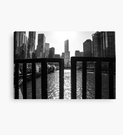 Through the bars Canvas Print