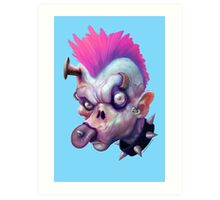 ZED HEADZ - Ear Worm Art Print