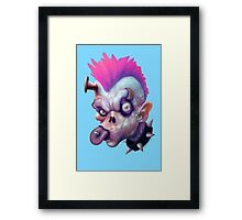 ZED HEADZ - Ear Worm Framed Print