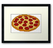 Pizza 8 bit Framed Print