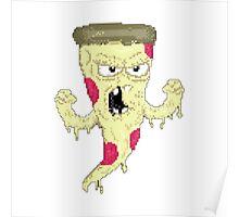 Pizza monster 8 bit Poster