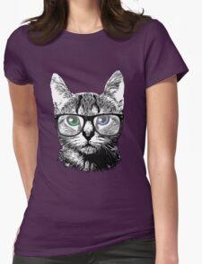 Nerdy Cat Hipster Kitten in Glasses T-Shirt
