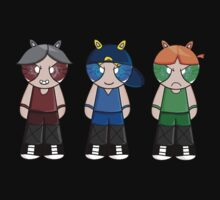 Bunny Rowdyruff Boy Team! One Piece - Long Sleeve