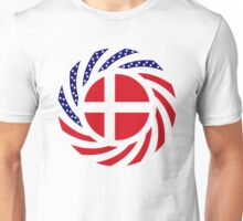 Danish American Multinational Patriot Flag Series Unisex T-Shirt