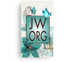 JW.ORG LOGO BLUE FLORAL Canvas Print