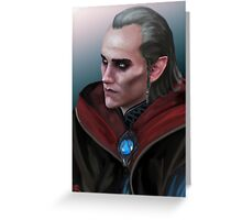 Witcher: Avallac'h Greeting Card